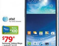 $79 Samsung Galaxy Mega at Walmart on Black Friday 2013